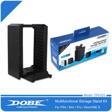 Dobe Multifunctional Disk Storage Stand Kit with DS4 Controller Charging Dock for Playstation 4 PS4 Pro Slim XBOX ONE S(China)