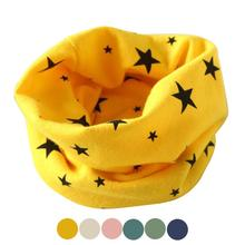 New Arrival Winter Scarf for Kids Stylish Five-pointed Stars Printing Ring Scarves Cuello Infantis #9789