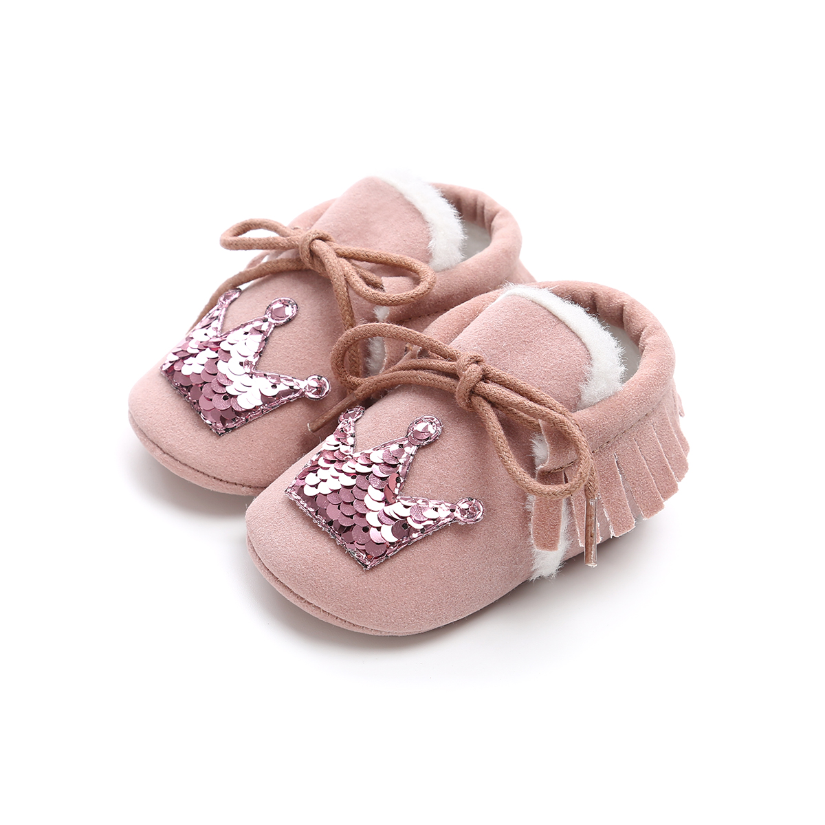 Newborn Baby Kids Girl Bow Flats Sneakers Prewalkers Flats Soft Crib Sole Shoes