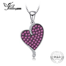JewelryPalace Fashion 0.88ct Created Ruby Heart Pendants For Women Genuine 925 Sterling Silver Fine Jewelry Not Include a Chain(China)