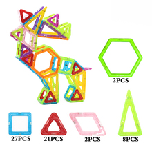 Mylitdear 60PCS/SET Anime Big Size 3D DIY Building Blocks Magnetic Designer Square Triangle Enlighten Bricks Toys For Children(China)