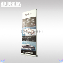 85*200cm 5PCS Exhibition Premium Double Side Aluminum Roll Up Banner Display Stand,Portable Pop Up Banner,Trade Show Equipment(China)