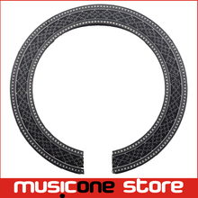 Classic Guitar BassWood Soundhole Rosette Inlay Guitar Body Project Parts,Black Color