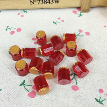 10Pieces Flat Back Resin Cabochon Miniature Garden Bottle DIY Flatback Embellishment Accessories Scrapbooking Crafts:10*12mm