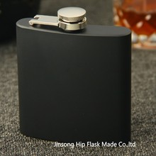 Matt BLACK  color 6oz stainless steel  hip flask , Flask can be  laser engraved