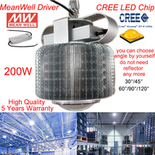 200W CREE LED High Bay Light with USA CREE Chip 120-130lm Meanwell power supply led factory led high bay light 5 Years Warranty