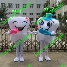 QIANYIDUOO Make High quality EVA Material tooth Mascot Costume Cartoon Apparel Dental health advertisements and publicity 636(China)
