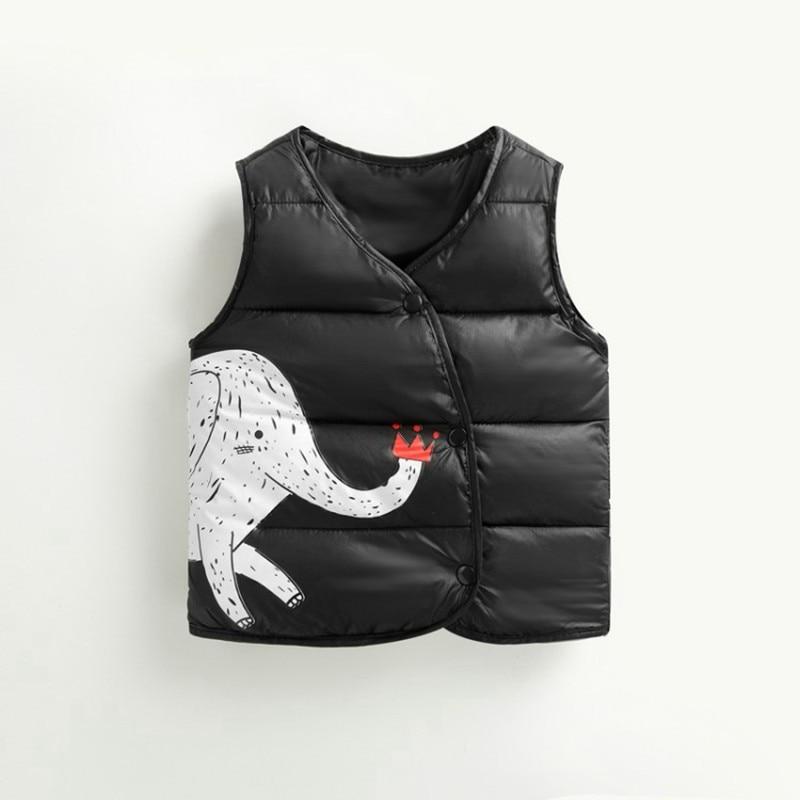 CROAL CHERIE Cotton Baby Girls Boys Winter Vest For Kids 2018 Kawaii Elephant Printing Waistcoat Children Boys Clothes 80-130cm (10)