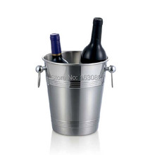 Top Grade Stainless Steel Cubes Barrel Ice Container Barrel Bucket Beer Wine Cooler Champagne