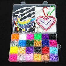 5mm 24 color perler beads kit,hama beads with templates accessories for kids children DIY handmaking 3D puzzle Educational Toys(China)