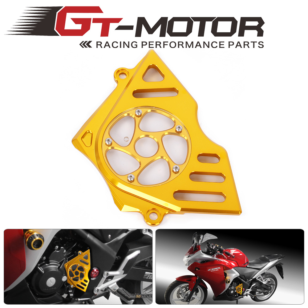 GT Motor - Free Shipping Motorcycle For Honda CBR250R 11-14 Accessories Guard Protection Gover Left Engine Front Sprocket Chain<br>