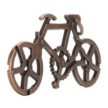 1 Pc Kids Adults Intelligent Development Toys Learning Toy Alloy Bike Lock Puzzle Brain Tester IQ Test Toy(China)