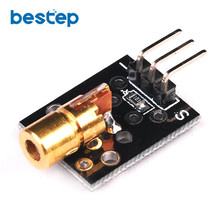 650nm Laser Sensor Module 6mm 5V 5mW Red Laser Dot Diode Copper Head for Arduino(China)