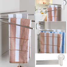 Best Quality Simple Fashion Metal 4 Pieces Stainless Strong Suction Cup Towel Rack Bathroom Accessories