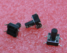 100pcs 6x6x10mm SMD Tact Switches Tactile Switch Microswitch Push button 6x6x10 mm IC