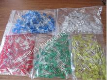 500pcs 5mm LED diode Light Assorted Kit DIY LEDs Set White Yellow Red Green Blue free shiiping(China)