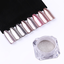 1 Box BORN QUEEN Mirror Nail Powder Mirror Silver Shimmer Powder Super Shining Manicure Nail Art Chrome Pigment Glitter Dust(China)