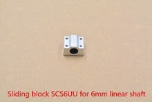 SCS6UU bearing 6mm linear bearing slide block with LM6UU bearing for 6mm shaft 1pcs