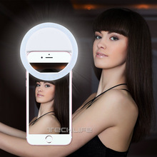 LED Selfie Ring Light for Iphone Supplementary Lighting Night Darkness Selfie Enhancing for iPhone 5 6s Plus Samsung Smartphone