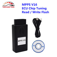2017 Manufacture Price MPPS Professional ECU Chip Tuning Tool MPPS V16 Checksum Auto OBD2 Connector ECU Flasher With USB Cable(China)