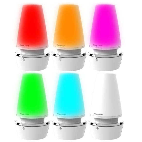 Multi-Colored Rechargeable LED Atmosphere Lamp Lights USB Charge Lamp Touch Sensor LED Table Lamp<br><br>Aliexpress