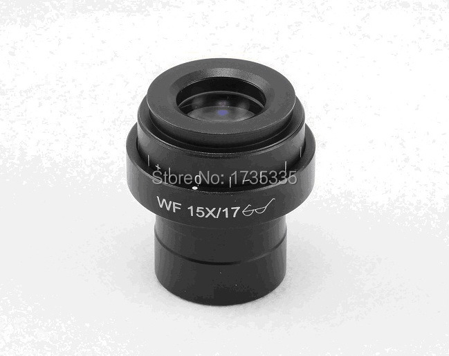 Super wide view field 17mm WF15X plan high point microscope Eyepiece with 30mm Mounting Size diopter adjustable<br><br>Aliexpress
