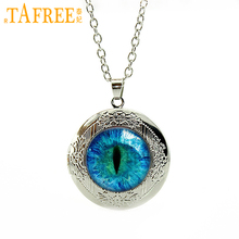 TAFREE Fashion Locket pendant Necklace Hot Sale Cat Eye,Dragon, Our Lady of Guadalupe Mandala 2017 Trendy Glass Gem Jewelry GL01(China)