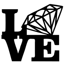 Novelty Love Diamond Stacked Funny JDM Vinyl Decal Sticker Auto Window Car Truck Fuel Tank Cap Laptop Office Wall Cool Graphic