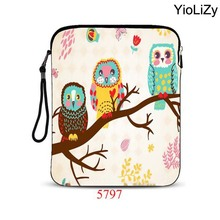 print Owl 9.7 10 inch women mini laptop bag men smart tablet Case notebook protective shell Anti-Dust sleeve Cover pouch IP-5797