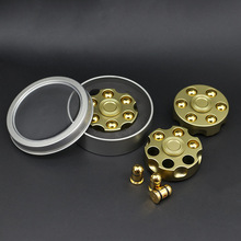 2017 New Hand Spinner Revolver Bullet Clip Spinner Can Rotate 8 Mins Fidget Spinner Anti Stress Metal Material Gold Finger Toy