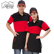 Chili Half Short Cooking Waist Apron Waiter Antifouling Wear Aprons With Pocket Chef Cafe Baking Tool Universal Unisex Women Men