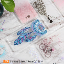 Dulcii Case Cover for Galaxy J7 Prime&On7 2016 Shell Pattern Printing TPU Gel Mobile Casing for Samsung Galaxy J7 Prime Cell Bag