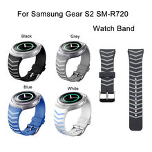 Customized Printing Pattern Silicone Watch Band Large Size Printing Silicone Strap for Samsung Gear S2 SM-R720 SSGS2PRCSS(China)