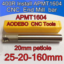 25-20-160mm 20 mm petiole  2F  Install APMT1604 Carbide insert CNC End Mill bar CNC Milling machine tools Free shipping