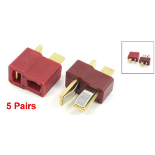 Buy 5 Pair Deans Ultra Plug T Male+Female Connector RC Li-Po Battery Car Plane for $1.44 in AliExpress store