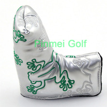 Silver Frog Golf Putter Covers PU leather + Black Velvet Lining + Hook-and-loop Closure Blade Putter Head Cover