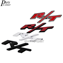 Car Styling Metal Badge For R/T RT Logo Red Black Silver Emblem Decal Sticker For Dodge Charger Caravan Nitro Challenger Avenger