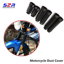 A Pair Dust Cover Motorcycle Off-road Front Rubber Fork Dirt Dust Cover   Motorcycle Fork Rubber Gaiters Boots Protective Sleeve(China)