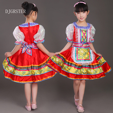 DJGRSTER Russia's national chind dance costume foreign drama clothing European court dresses princess new maid outfits