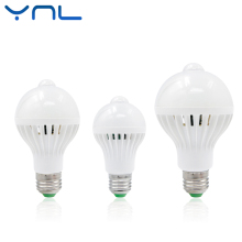 YNL PIR Motion Sensor Led Lamp Bulb E27 220V 5W 7W 9W SMD 5730 automatic Smart Detection Led Infrared Body Motion Sensor Light