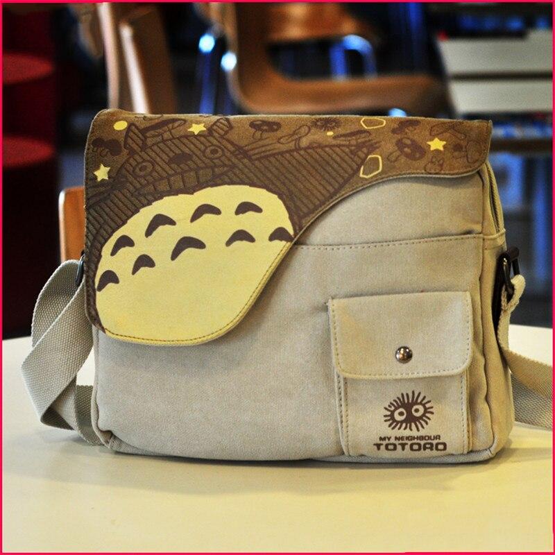Fashion Anime My Neighbor Totoro Canvas Messenger Bag Unisex Students Boys Girls Shoulders Bag Schoolbag Best Gifts<br>