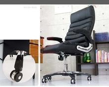office meeting room chair black Nylon material foot five stars base counge chair