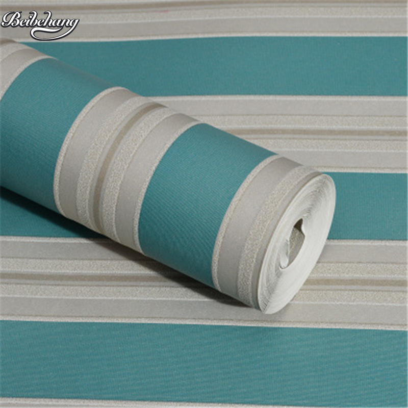 beibehang fresh vertical stripes non - woven wallpaper simple modern lines living room hotel project home improvement <br>