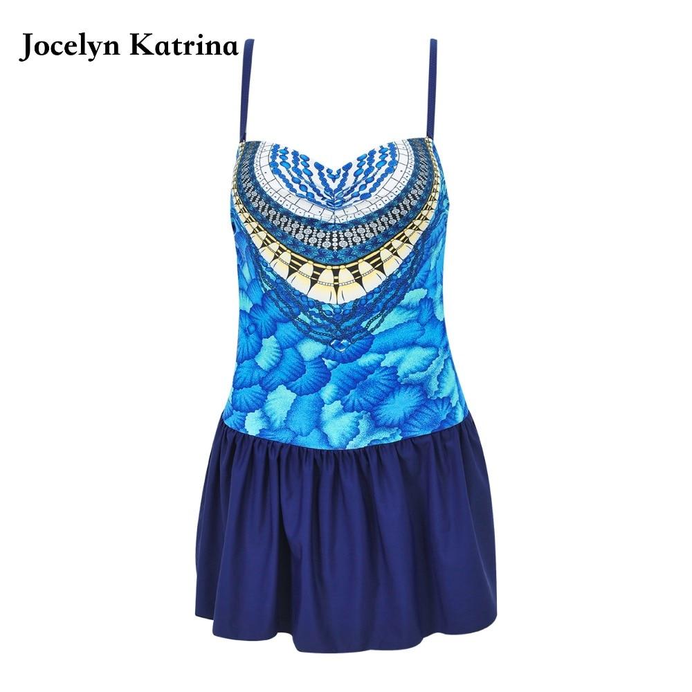 Jocelyn Katrina One-Piece Suits Swimwear Women Bathing suit Swim Wear Beach Plus Size Dress bikini Tankini<br>