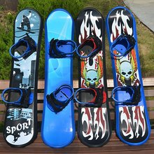 95/110/120CM Plastic Snow Board Men Women Outdoor Sports Freestyle Single Board Grass Sand Snowboarding Skating for Adults Kids(China)