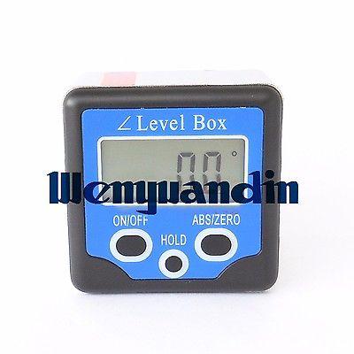 Digital Inclinometer Angle Protractor Gauge Bevel Box Meter 180 Degree Mini Inclinometer Angle Finder Meter<br>