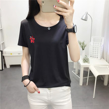 Buy 2018 Spring Summer Sweet Women T Shirts Casual Short-sleeved Embroidered Flowers T-shirt Women Clothing for $7.70 in AliExpress store