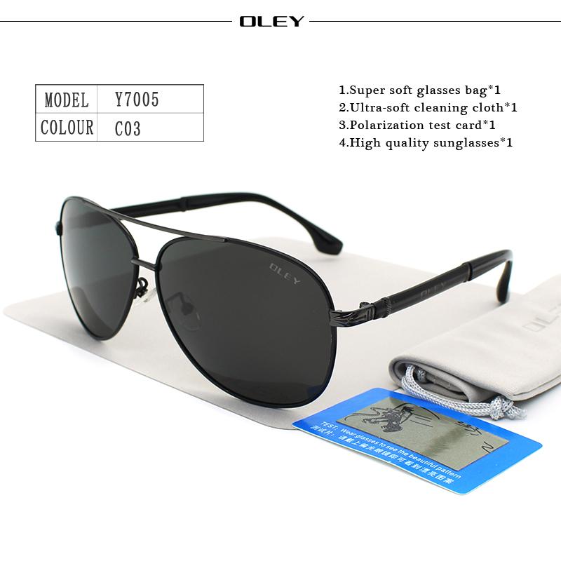 OLEY Luxury sunglasses men polarized Classic pilot Sun glasses fishing Accessories driving goggles gafas de sol zonnebril mannen 9
