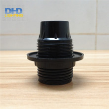 Free shipping 20units/lot E12 UL Black Bakelite lamp holder with screw lampshade ring DIY lamp accessories