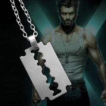 Marvel Comics Classic X-men X-Force Super Hero Wolf Beard Blade Stainless Steel Dog Tag Necklace Pendant